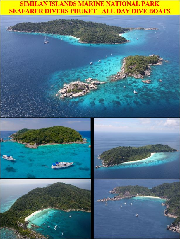 From Phuket, a day-long of scuba diving to Similan Islands Marine National Park with CMAS PADI SSI dive training courses
