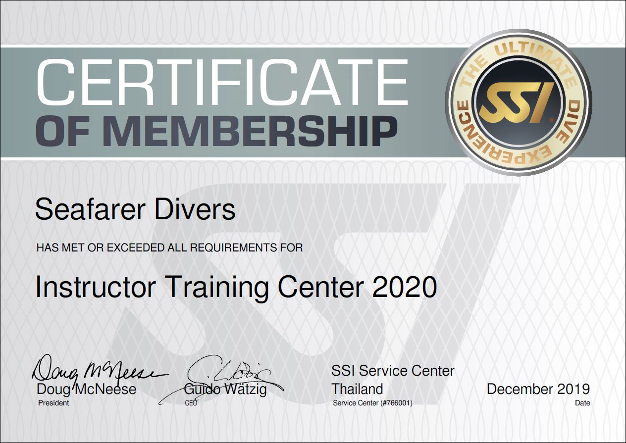In Phuket, promotions and discounted packages of SSI (SCUBA Schools International) with dive training courses from beginner diver up to Divemaster as well as freediving or apnea.